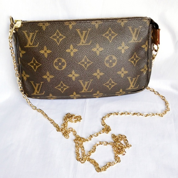4f804a7c Louis Vuitton Pochette Accessories w chain strap
